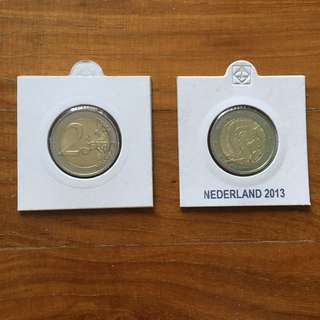 Netherlands 2 euro coin 2013 (1 pc)