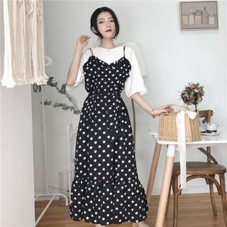 Women Polka dots Maxi dress 3