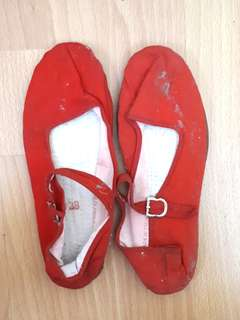 Urban Outfitters mary janes (red)