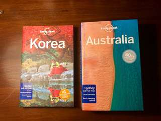 Lonely Planet Korea Australia guidebook brand new