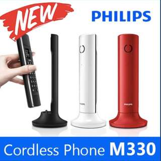 philips linea m330 cordless phone (RED)