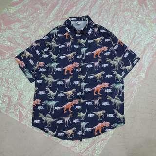 滿版恐龍造型中性短袖襯衫