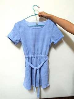 🚚 平口小洋裝(淺藍)
