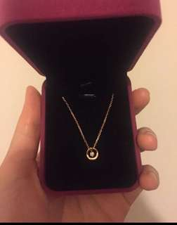 18k玫瑰金鑽石項鍊 鑽石7份