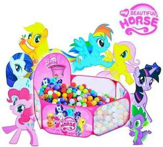 Tenda Keranjang Mandi Bola Little Pony