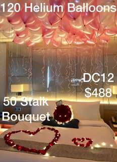 Flowers and Balloons Room Decor