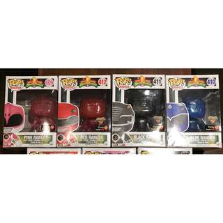 Funko Pop! Power Rangers Morphing GameStop Exclusive Set of 4