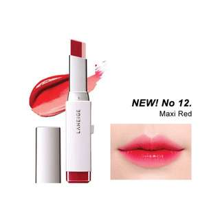 Laneige Two Tone Lip Bar No.12 #MaxiRed