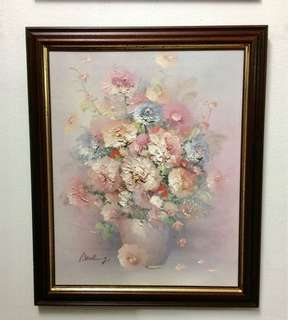 Vintage Oil Painting on canvas by P.Keeling