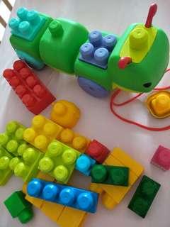 Mega Bloks - Musical Caterpillar and FOC bloks