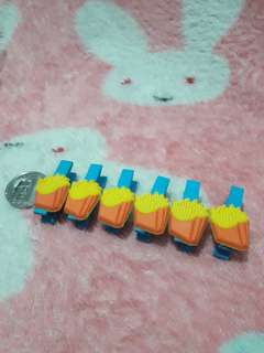 Wooden Clips - 6pcs Fries