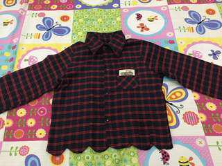 Red flanel top