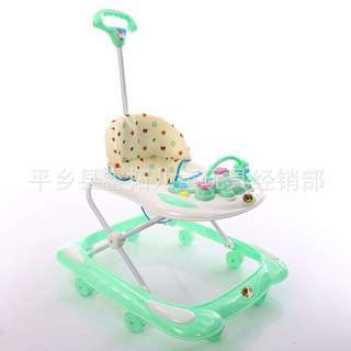 2in1 Baby Walker 🎵 Music 3 colour (Blue)(Red Pink)(Green)