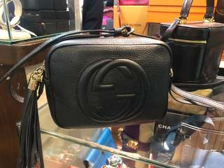 ORIGINAL GUCCI SOHO DISCO IN BLACK with box and card and dust bag almost good as new