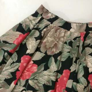 Cotton On Floral Printed A-Line Skirt