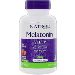 Natrol, Melatonin, Fast Dissolve, Strawberry , 5 mg, 150 Tablets