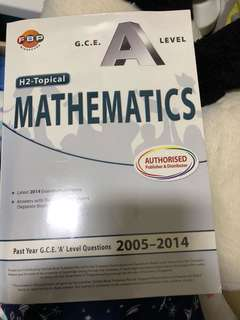🚚 GCE A Level H2 Topical Mathematics