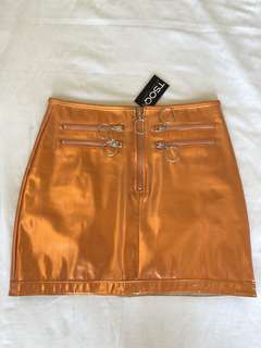 "TSOQ Hypnotized Metallic Orange 🍊 Miniskirt 27"" waist"