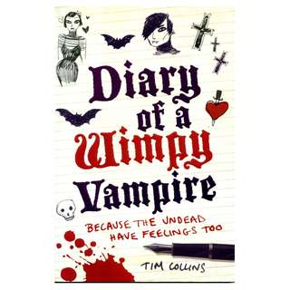 Diary of a Wimpy Vampire by Tom Collins ~ Brand New