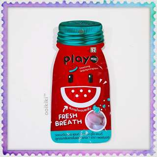 Play More Watermelon Cooling Fresh Breath Candy 7-11 Thailand 西瓜冰冻糖果