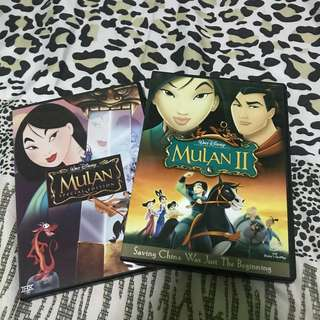Mulan 1 & 2 Original DVD