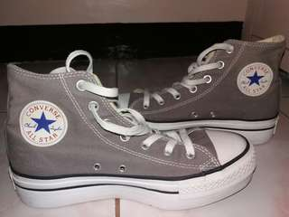 Chuck Taylor Converse All Star Wedged Gray Sneakers