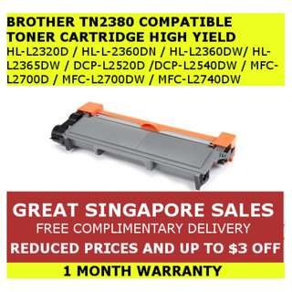 [INSTOCKS] Brother TN2380/TN660/TN2360 Compatible High Yield Toner Ink Cartridge