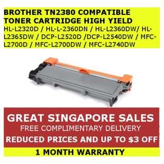 [INSTOCKS] Brother TN2380/TN660/TN2360 Compatible High Yield Toner Ink Cartridge