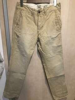 A&f 卡其色工作褲