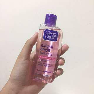 C&C natural bright facial wash