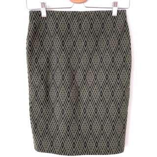 H&M圖騰窄裙 二手