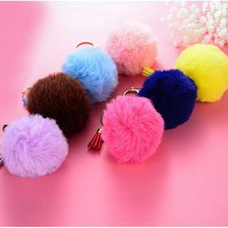 Fur Ball bag keychain