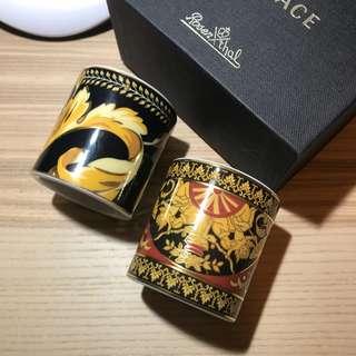 Versace x Rosenthal 圖騰瓷器小燭台