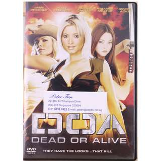 DOA : Dead Or Alive  Starring : Kasumi (Devon Aoki), Christie Allen (Holly Valance) and Tina Armstrong (Jaime Pressly)