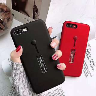 Latest Trend 2018 Glossy Soft Silicone Phone Case with Stand and Pull Ring