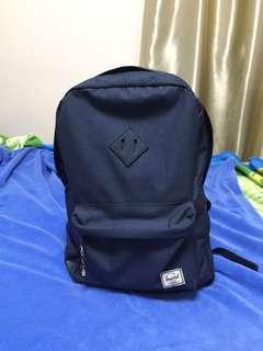 Herschel Backpack Blue Leather Bottom