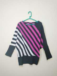 Knit Stripe Top Rajut