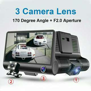 T636 Tri-Lens Vehicle Dashcam