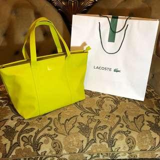 LACOSTE Large Shopping Bag (Yellow Green) w/zipper