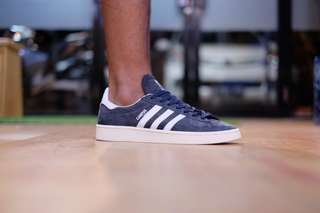 Adidas original campus navy white nubuck