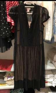 Collette黑色雷絲洋裝