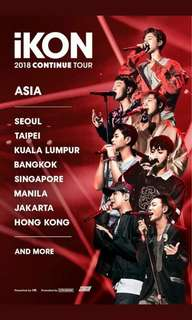 iKON 2018 CONTINUE TOUR (TICKETING SERVICE)