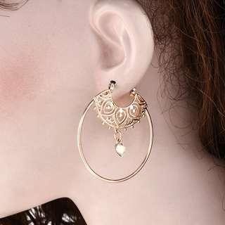 PO Boho Hoops Spiral Ethnic Earrings [MJN21]