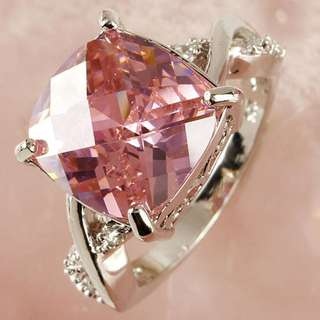 PO Pink & White Gemstone Ring comes in Sizes 6-8 [MJN22]