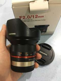 Samyang 12mm f2 for FUJIFILM X