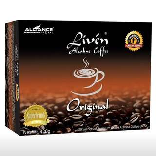 Liven Alkaline Coffee 20sachets