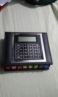 SALE!calculator with assorted post it notes