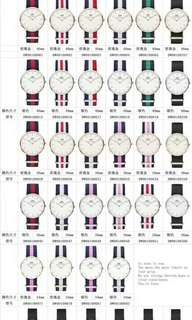100%原品original DW Watch