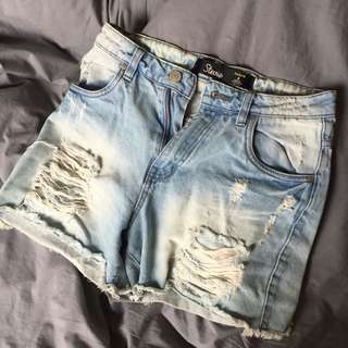 Factorie Ripped Denim Shorts