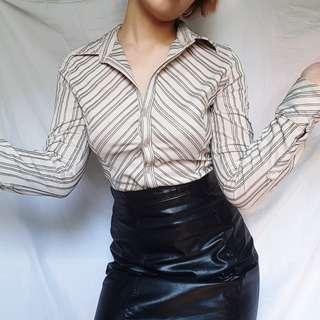 Pinstripe blouse